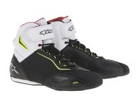 Мотоботы Alpinestars Faster-2 Black White Fluo Yellow Red