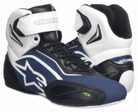 Мотоботы Alpinestars Faster-2 Vented Black Navy White Yellow Fluo