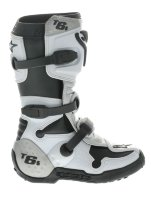 Мотоботы Alpinestars Tech 6 S White-Silver Youth 39