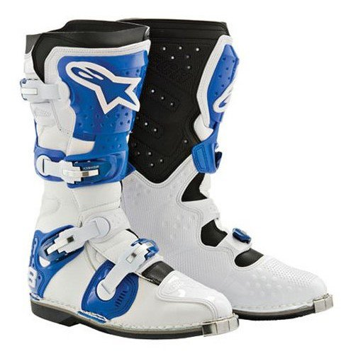 Мотоботы Alpinestars Tech 8  Black-Blue-White 45,5