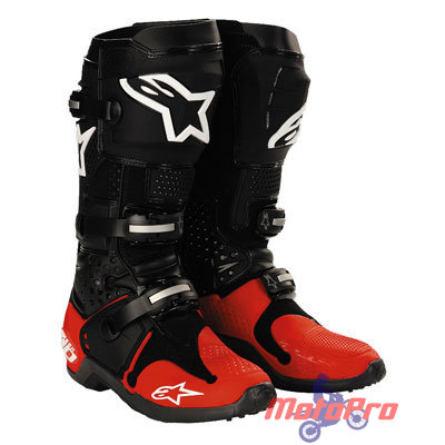 Мотоботы Alpinestars Tech 10 Black-Red 42