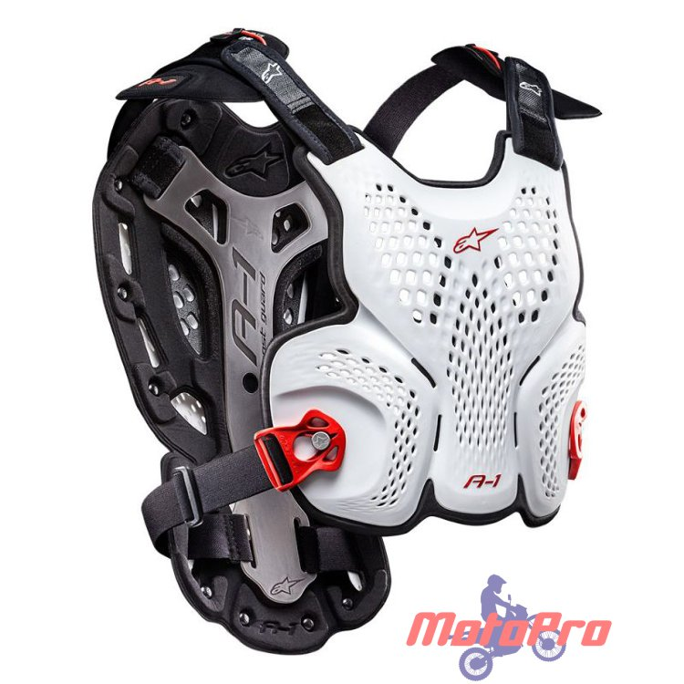 Моточерепаха Alpinestars A-1 Roost Guard White Black Red