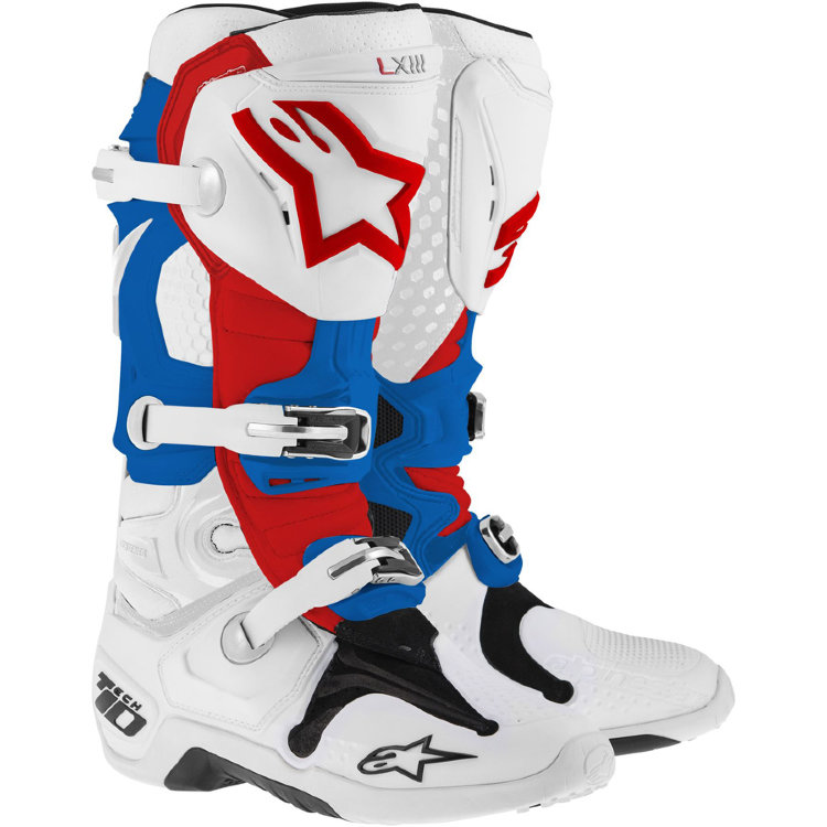 Мотоботы Alpinestars Tech 10 White Blue Red