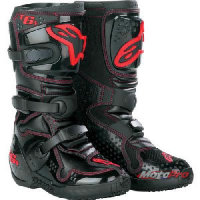 Мотоботы Alpinestars Tech 6S Black-Red Youth 29
