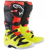 Мотоботы Alpinestars Tech 7S Youth Black Red Yellow Fluo
