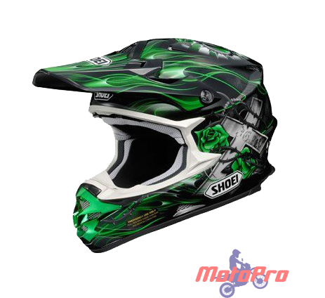Мотошлем Shoei VFX-W GRANT TC-2 Black Green XS