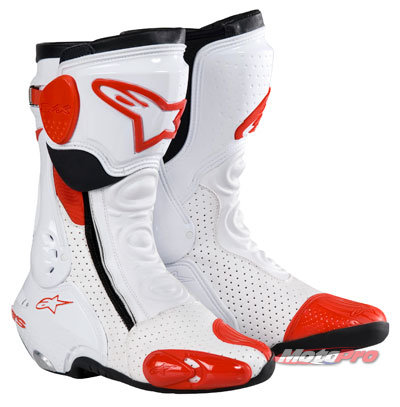 Мотоботы Alpinestars S-Mx Plus White-Red Vented