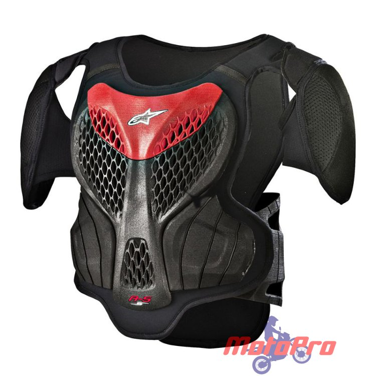 Моточерепаха детская Alpinestars A-5S Youth Body Armor Black Red