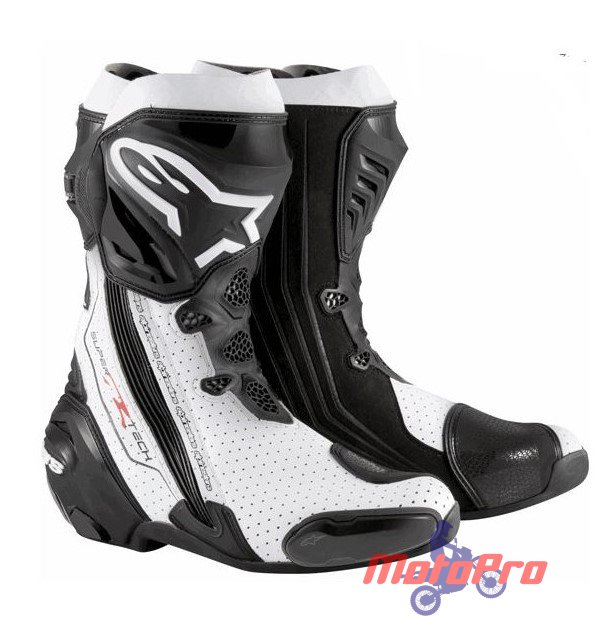 Мотоботы Alpinestars Supertech R White Black Vented 44